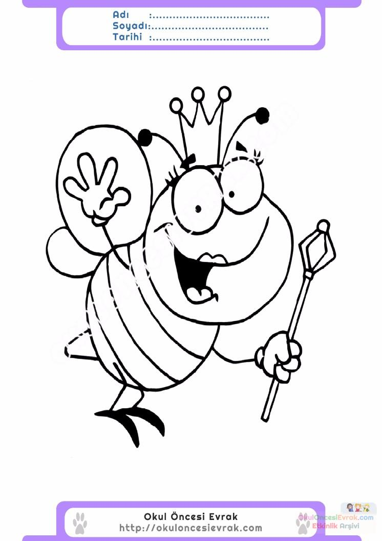 Arı Resmi Boyama sayfası