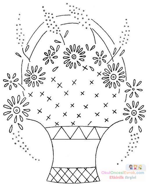 Saksı Kalıbı çiçek Boyama Artık Materyal 141 Preschool Activity