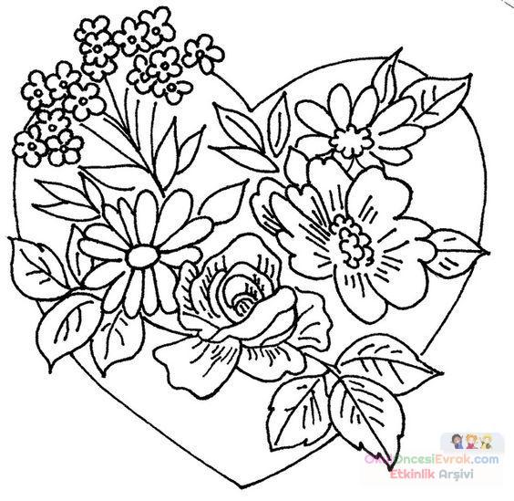 Saksı Kalıbı çiçek Boyama Artık Materyal 146 Preschool Activity
