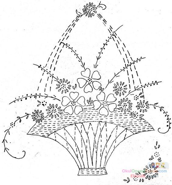 Saksı Kalıbı çiçek Boyama Artık Materyal 151 Preschool Activity