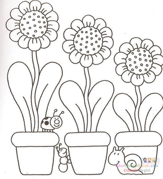 Saksı Kalıbı çiçek Boyama Artık Materyal 168 Preschool Activity