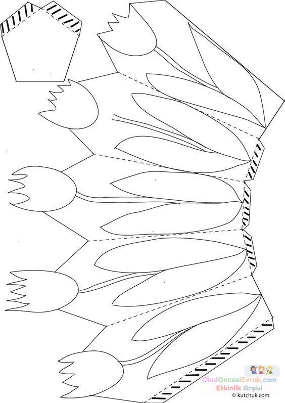 Saksı Kalıbı çiçek Boyama Artık Materyal 182 Preschool Activity