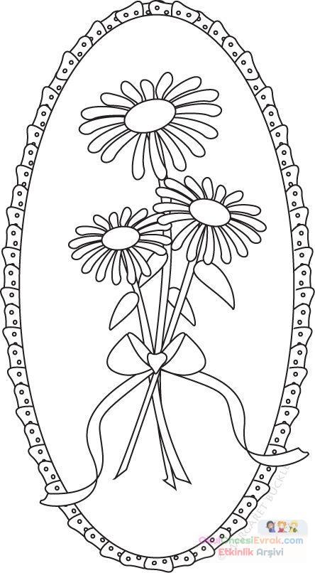 Saksı Kalıbı çiçek Boyama Artık Materyal 186 Preschool Activity