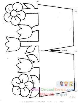 Saksı Kalıbı çiçek Boyama Artık Materyal 191 Preschool Activity