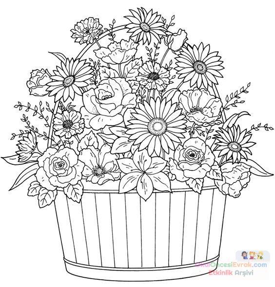 Saksı Kalıbı çiçek Boyama Artık Materyal 199 Preschool Activity