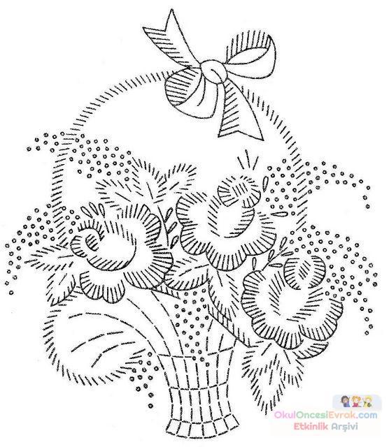 Saksı Kalıbı çiçek Boyama Artık Materyal 201 Preschool Activity