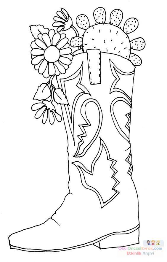 Saksı Kalıbı çiçek Boyama Artık Materyal 205 Preschool Activity