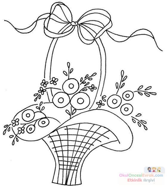 Saksı Kalıbı çiçek Boyama Artık Materyal 237 Preschool Activity