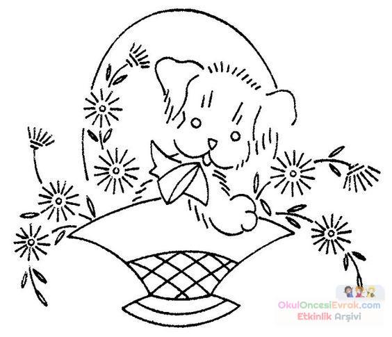Saksı Kalıbı çiçek Boyama Artık Materyal 242 Preschool Activity