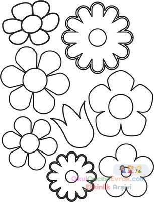 Saksı Kalıbı çiçek Boyama Artık Materyal 248 Preschool Activity