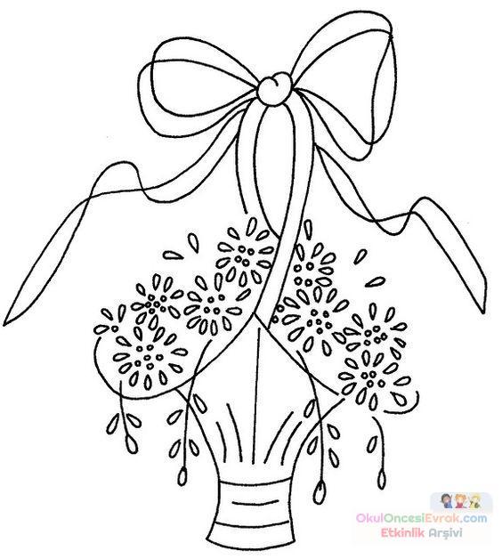 Saksı Kalıbı çiçek Boyama Artık Materyal 63 Preschool Activity