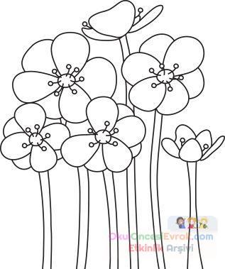 Saksı Kalıbı çiçek Boyama Artık Materyal 66 Preschool Activity