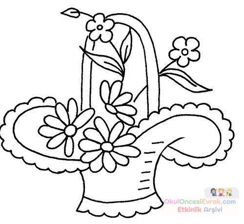 Saksı Kalıbı çiçek Boyama Artık Materyal 78 Preschool Activity