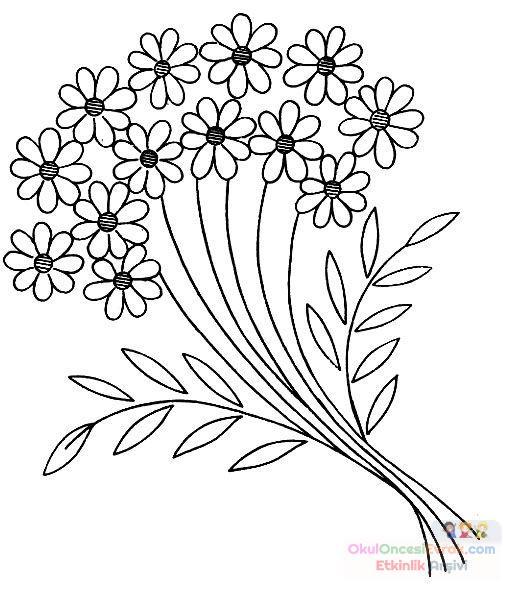 Saksı Kalıbı çiçek Boyama Artık Materyal 87 Preschool Activity