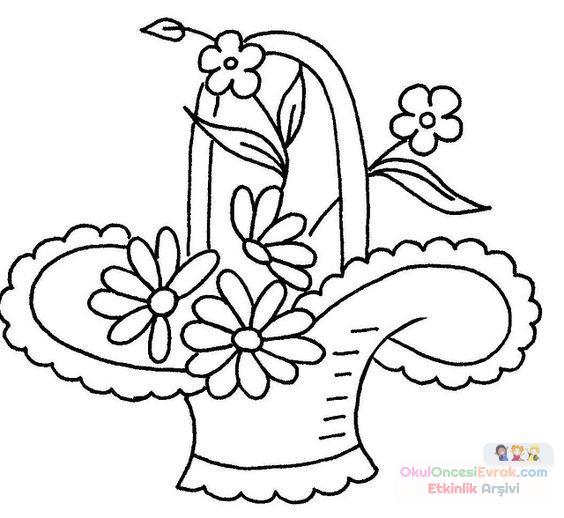 Saksı Kalıbı çiçek Boyama Artık Materyal 91 Preschool Activity