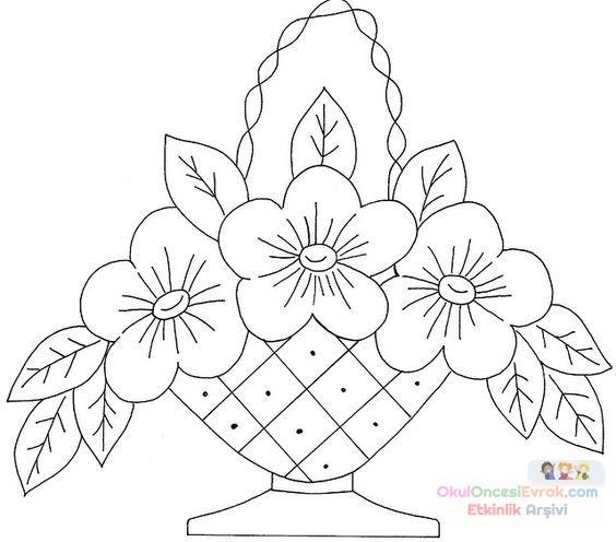 Saksı Kalıbı çiçek Boyama Artık Materyal 93 Preschool Activity