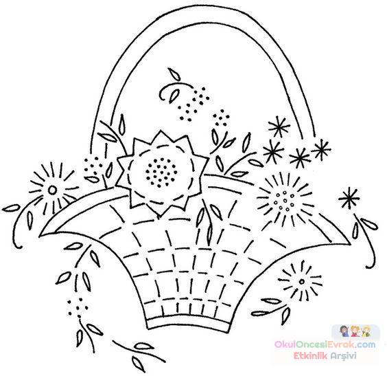 Saksı Kalıbı çiçek Boyama Artık Materyal 95 Preschool Activity