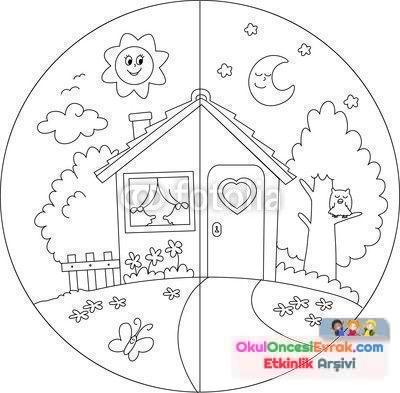 Gece Gunduz Preschool Activity