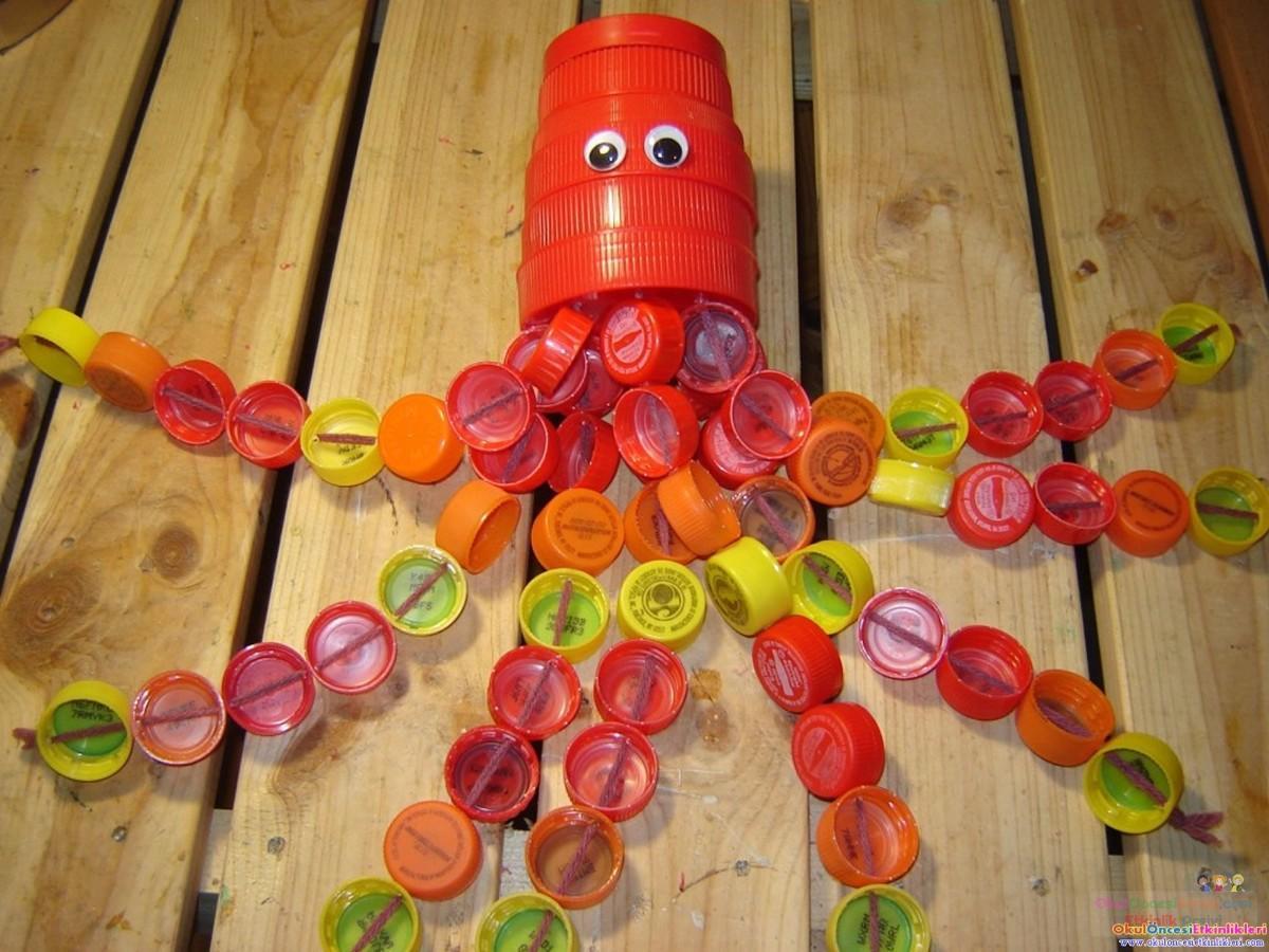Поделки с детьми из бутылок пластиковых своими руками