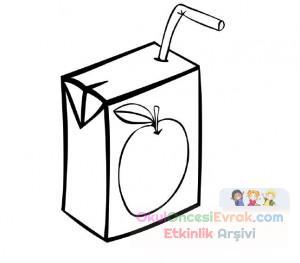 Süt Ve çay Boyama çalişması 2 Preschool Activity