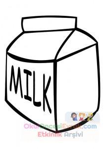 Süt Ve çay Boyama çalişması 8 Preschool Activity