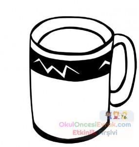 Süt Ve çay Boyama çalişması 9 Preschool Activity