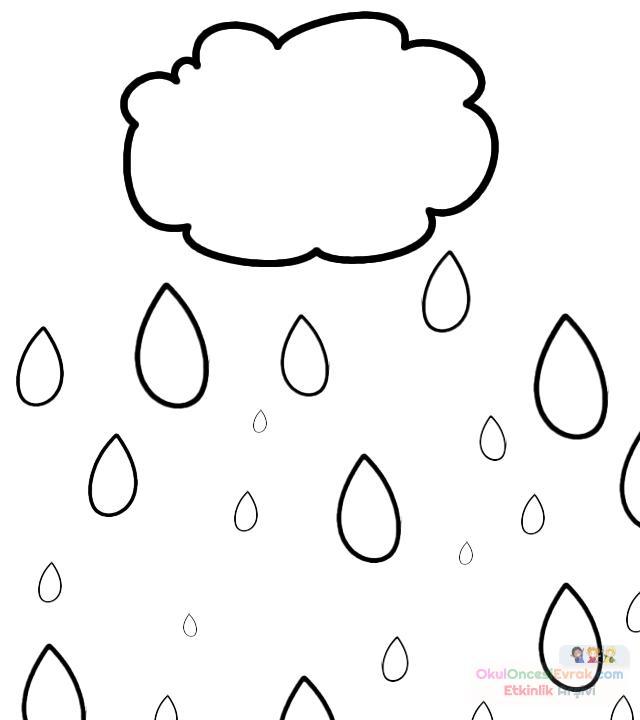 Yağmur Bulutu Boyama 3 Preschool Activity