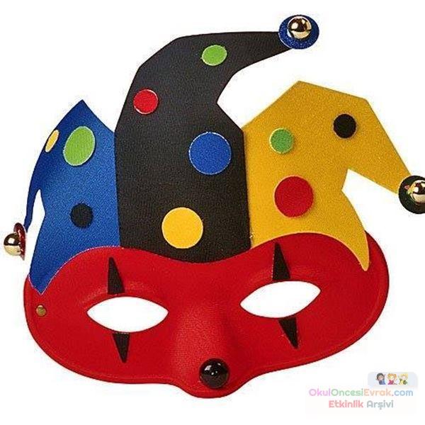 Маска клоуна сделать своими руками 765