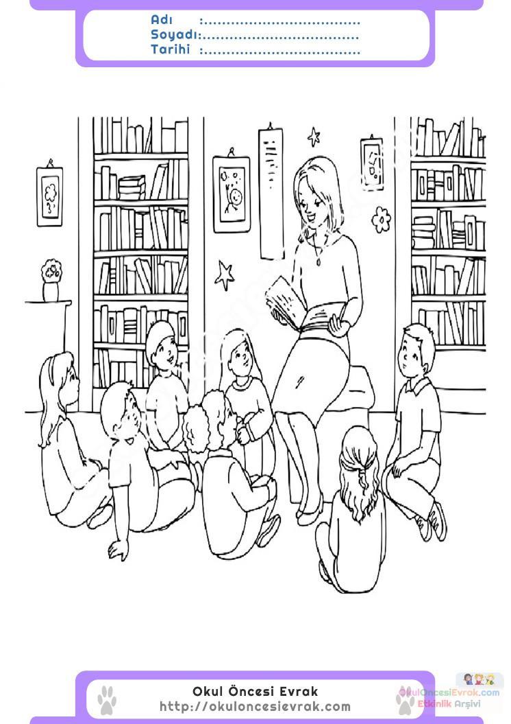 öğretmenler Günü Belirli Gün Ve Haftalar Boyama Sayfası 14 1