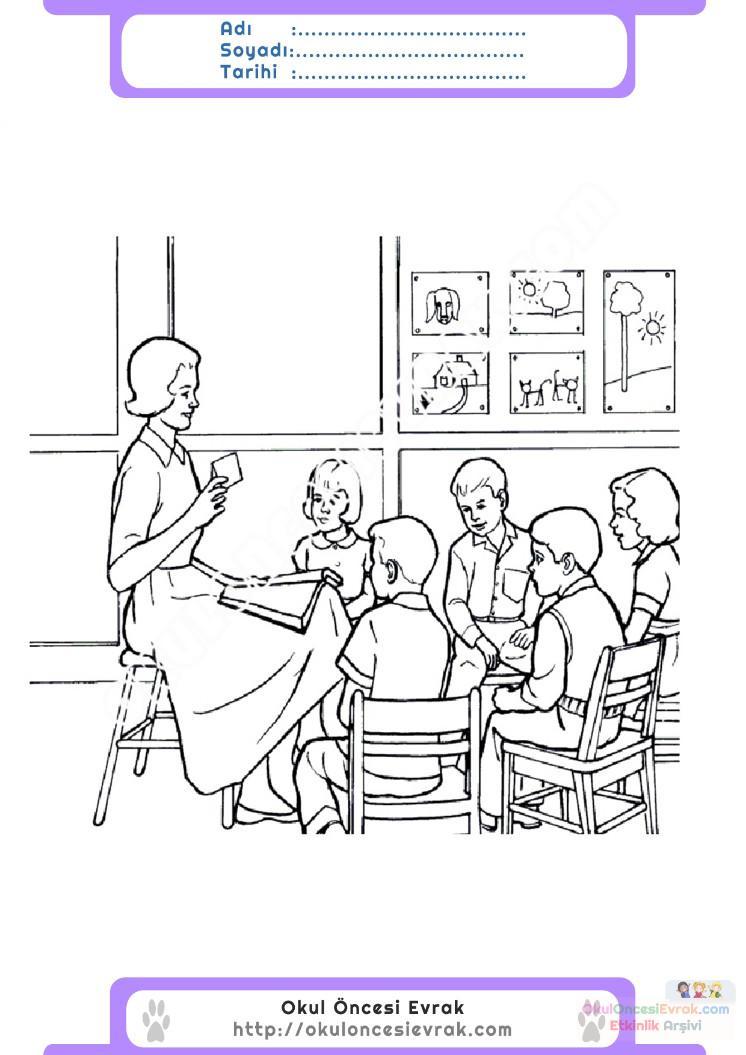 öğretmenler Günü Belirli Gün Ve Haftalar Boyama Sayfası 4