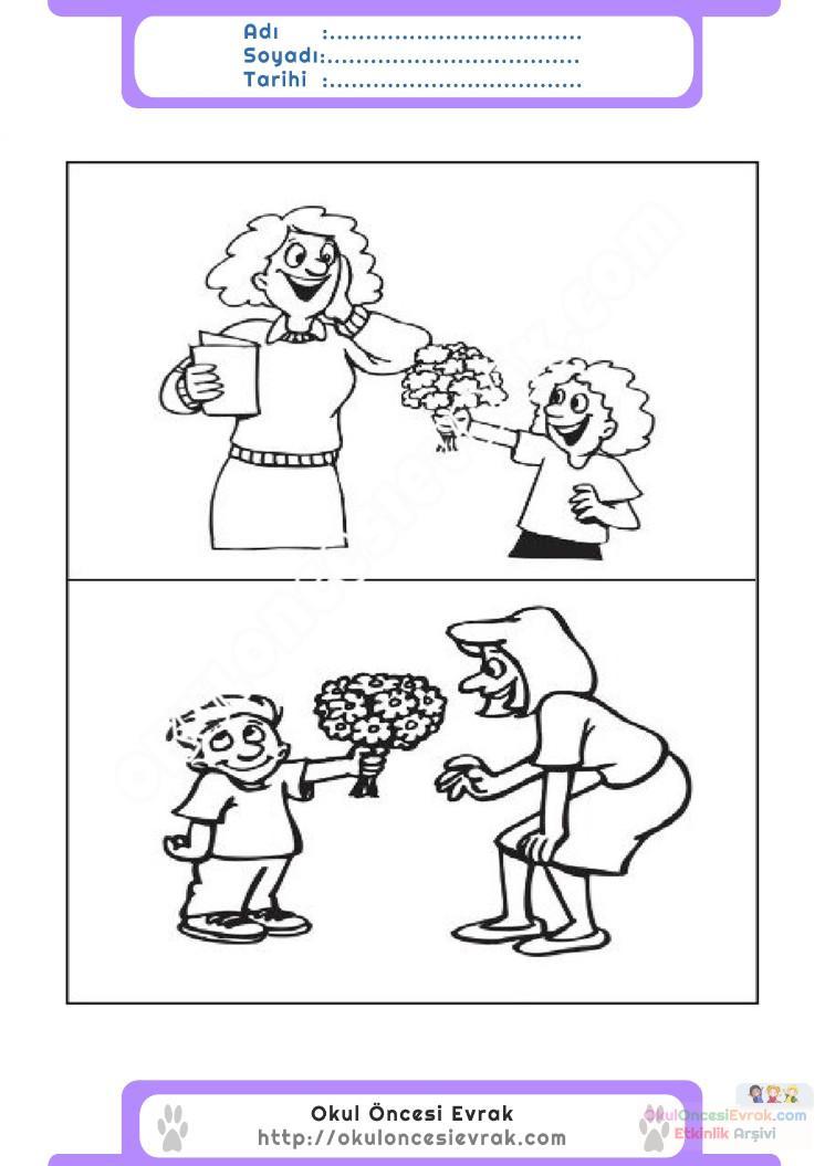 öğretmenler Günü Belirli Gün Ve Haftalar Boyama Sayfası 6