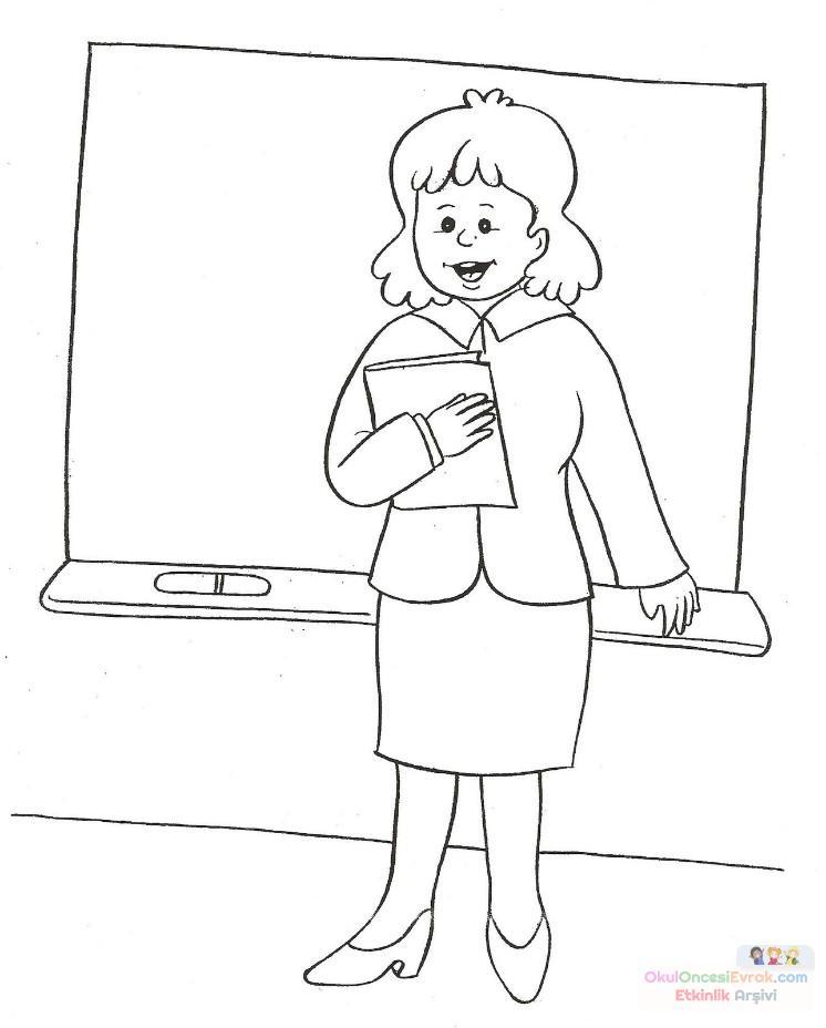 öğretmenler Günü Boyama 4 Preschool Activity
