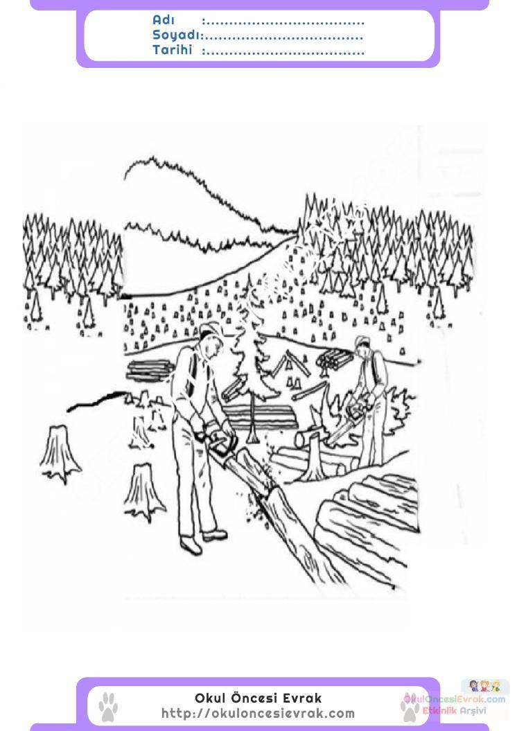 Orman Haftası Belirli Gün Ve Haftalar Boyama Sayfası 10 Preschool