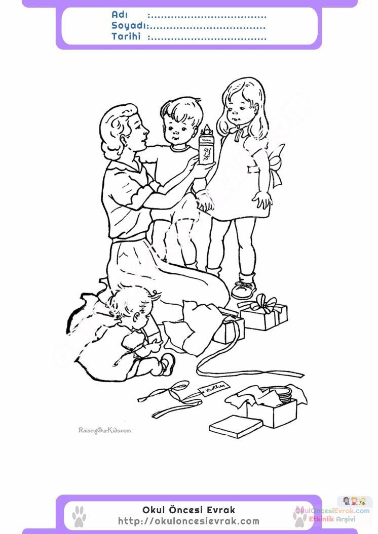 Anneler Günü Belirli Gün Ve Haftalar Boyama Sayfası 22 Preschool