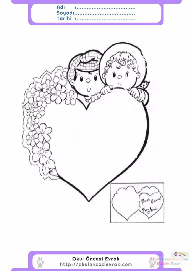 Anneler Günü Belirli Gün Ve Haftalar Boyama Sayfası 7 Preschool