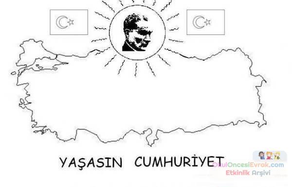Atatürk Boyama 29 Ekim