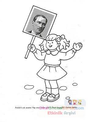 Atatürk Boyama Preschool Activity