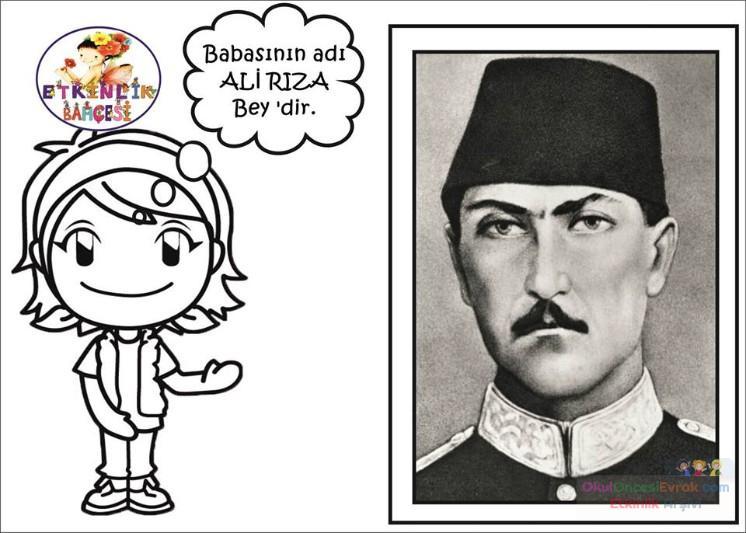Atatürk Etkinlikleri 14 Preschool Activity