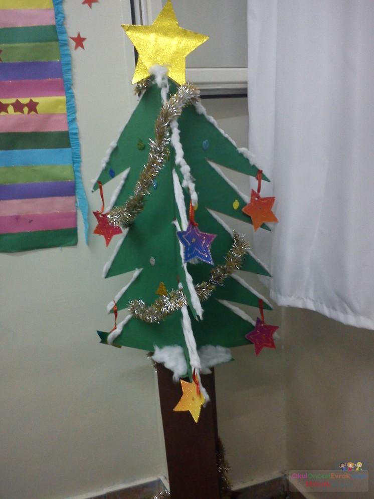 üç Boyutlu Yılbaşı Ağacı Preschool Activity