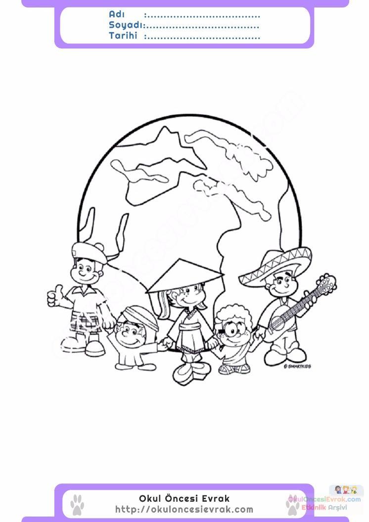 23 Nisan Belirli Gün Ve Haftalar Boyama Sayfası 3 Preschool Activity