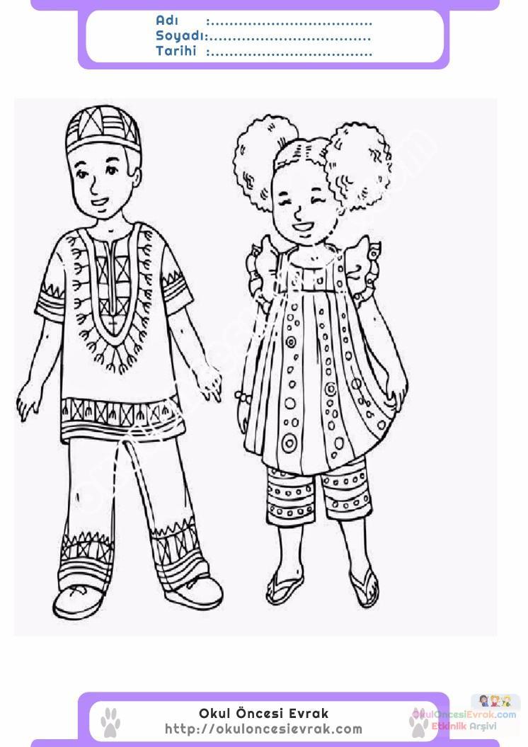 23 Nisan Belirli Gün Ve Haftalar Boyama Sayfası 9 Preschool Activity