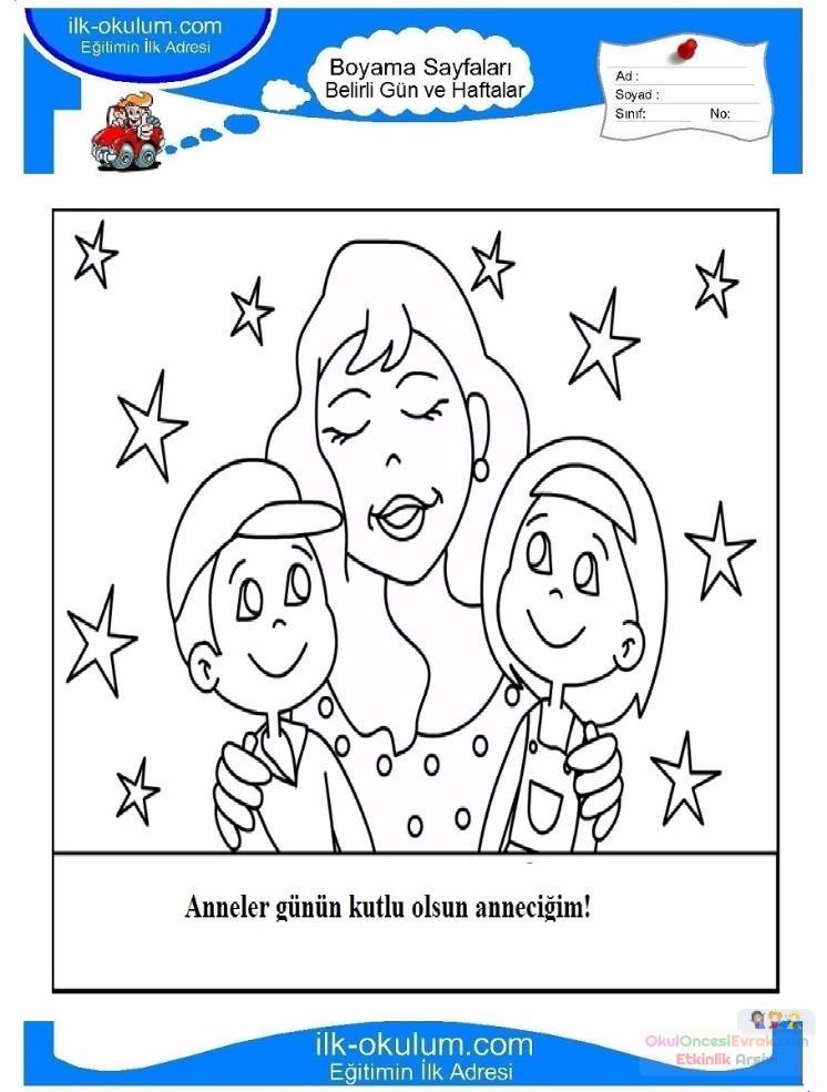 Anneler Günü Etkinlikleri 2 Sınıf Eğlenceli Etkinlikler Mother