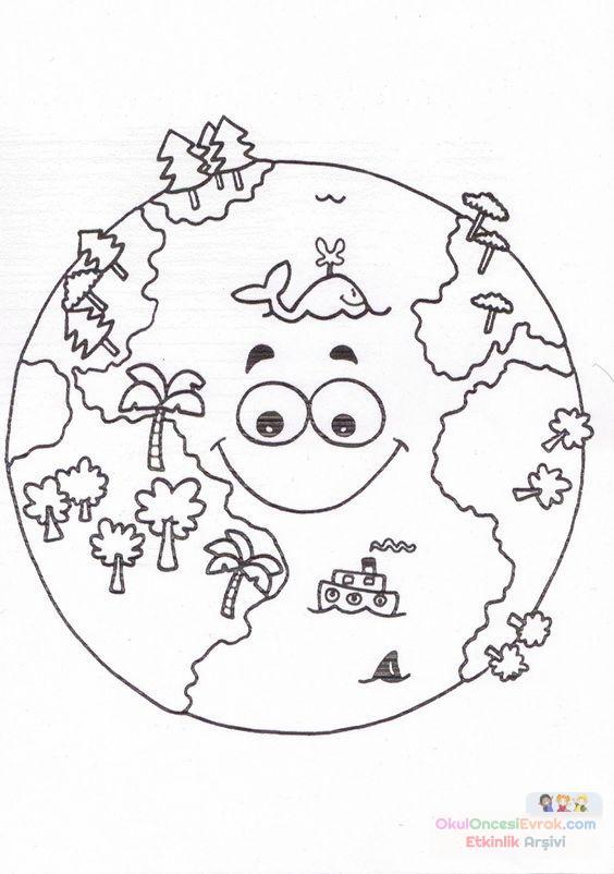 Раскраска земля и планеты