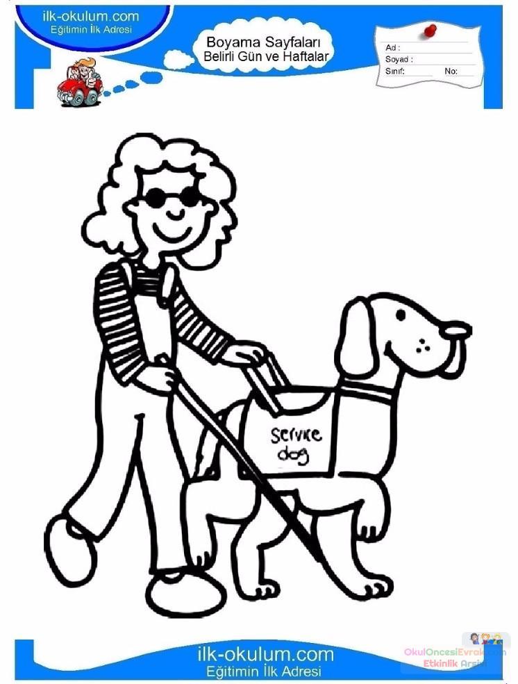 Engelliler Haftası Belirli Gün Ve Haftalar Boyama Sayfası 18