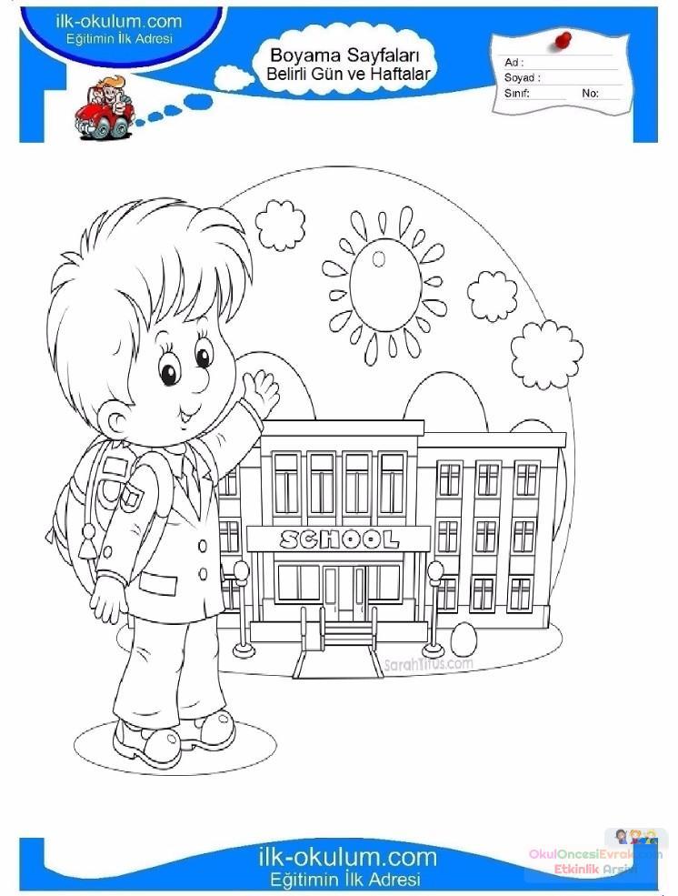Ilköğretim Haftası Belirli Gün Ve Haftalar Boyama Sayfası 4