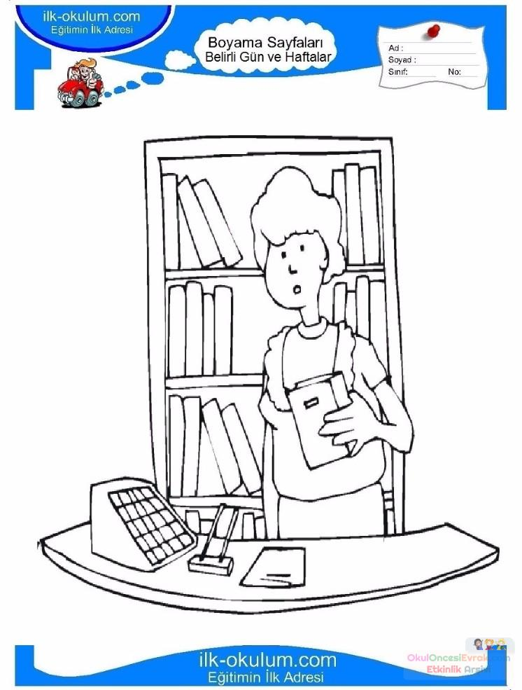 Kütüphaneler Haftası Belirli Gün Ve Haftalar Boyama Sayfası 4