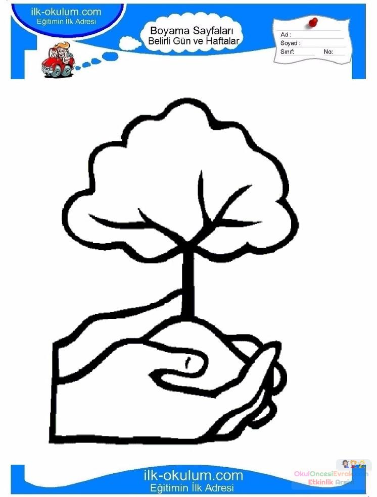 Orman Haftası Belirli Gün Ve Haftalar Boyama Sayfası 1 Preschool