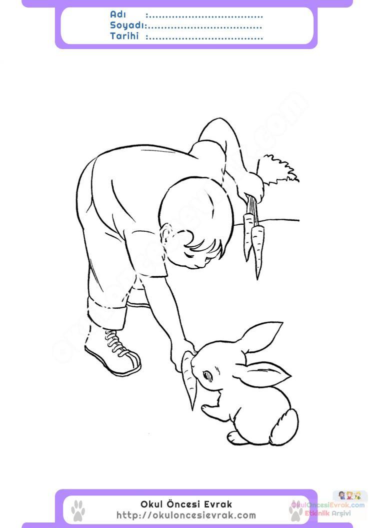 Hayvanları Koruma Günü Belirli Gün Ve Haftalar Boyama Sayfası 1