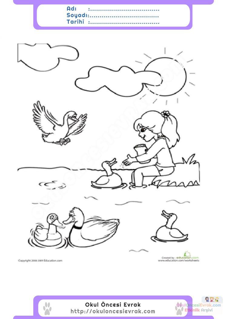 Hayvanları Koruma Günü Belirli Gün Ve Haftalar Boyama Sayfası 3