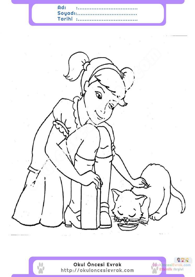 Hayvanları Koruma Günü Belirli Gün Ve Haftalar Boyama Sayfası 5